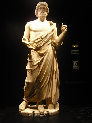 The original Asclepius statue found in 1908